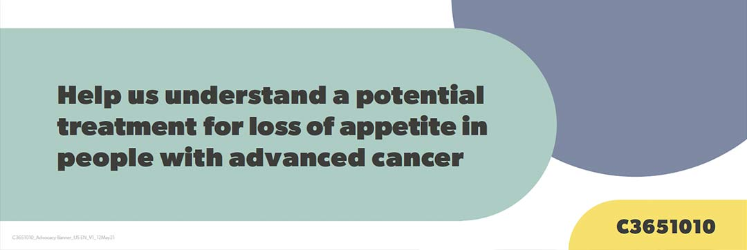 Help us understand a potential treatment for loss of appetite in people with advanced cancer