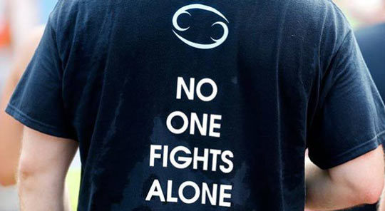 Shirt quote: no one fights alone