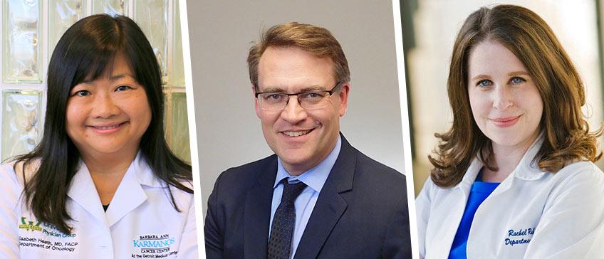 Dr. Elisabeth Heath, Dr. Rachel Rubin, and Dr. Charles Ryan
