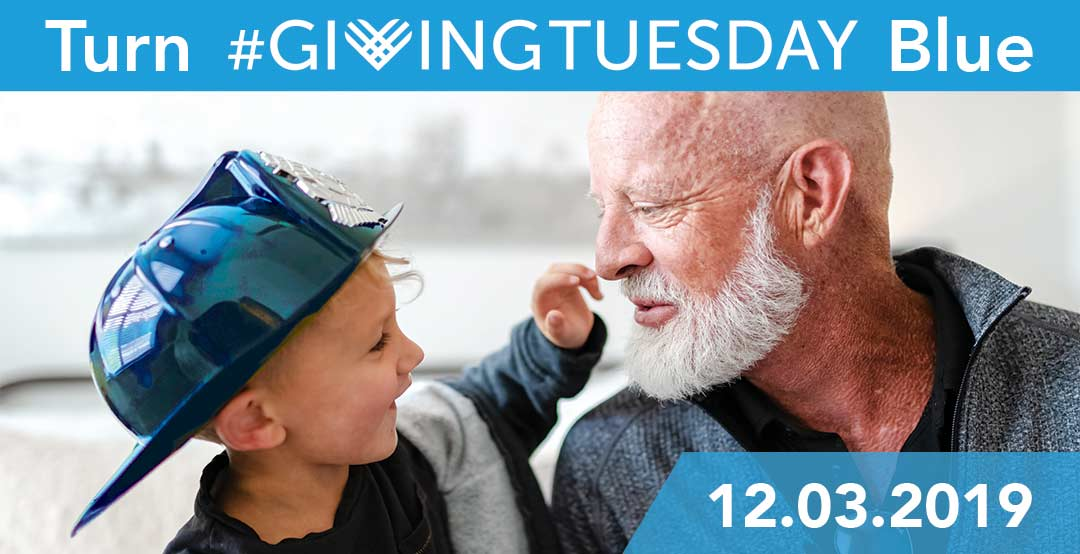 December 3, Turn #GivingTuesday Blue